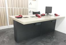 方圆现代钢木办公桌BJ006