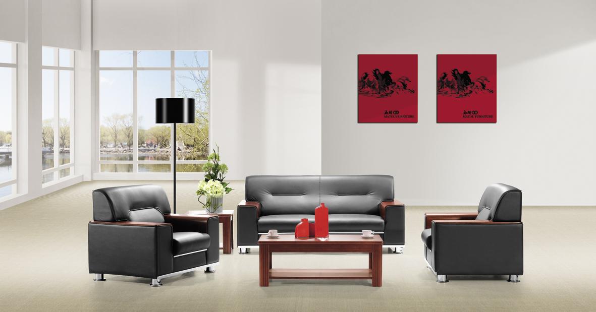 三人位办公沙发